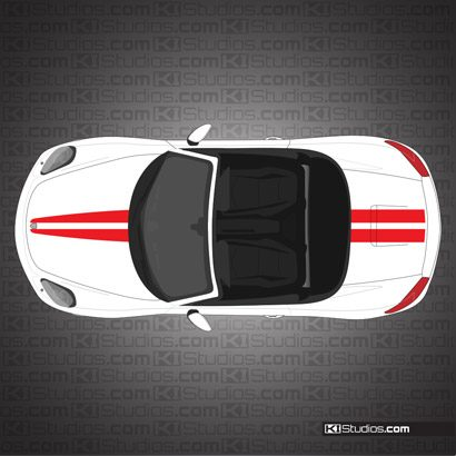 Porsche 981 Boxster Stripe Kit 006