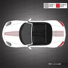 Porsche 981 Boxster Stripe Kit 007