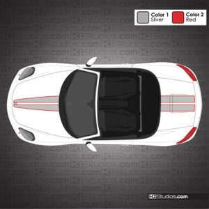 Porsche 981 Boxster Stripe Kit 007