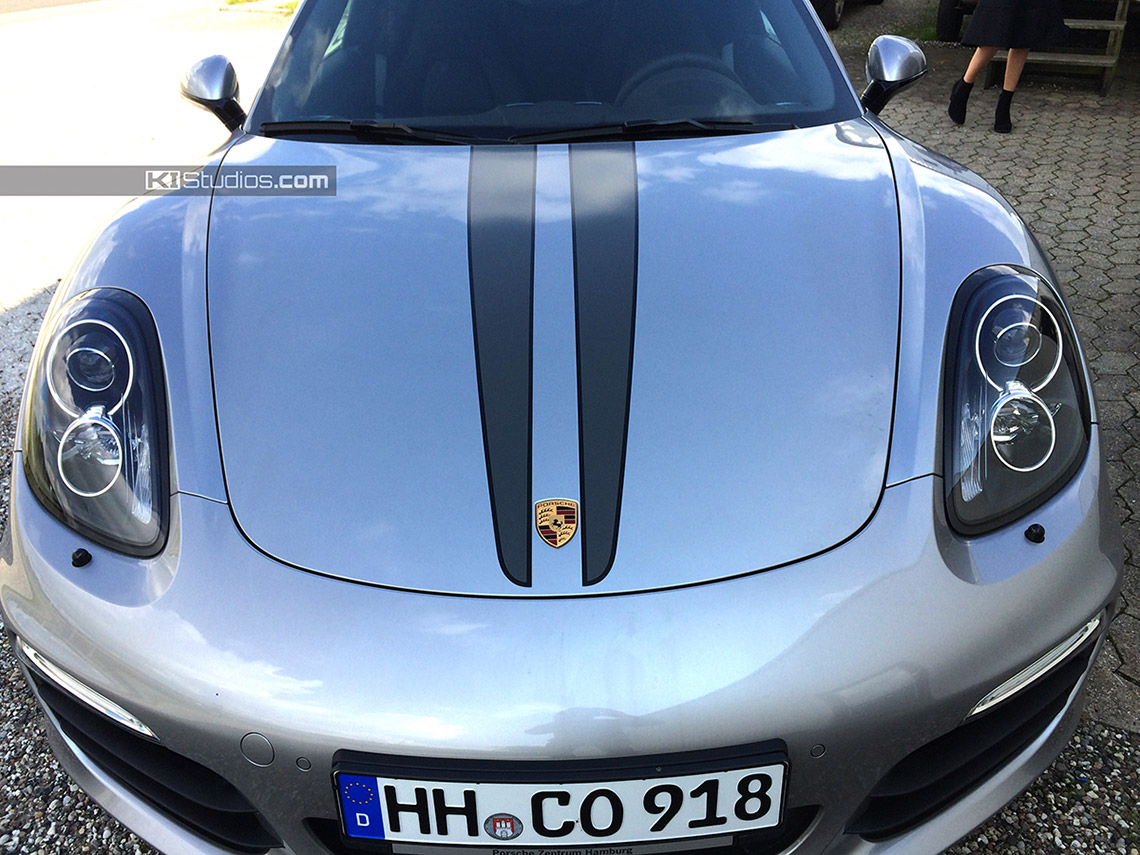 Ki Studios Dual Color Top Stripes For The Porsche Boxster 981