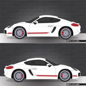 Porsche 981 Cayman Stripe Kit 001