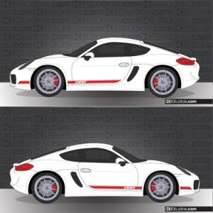 Porsche 981 Cayman Stripe Kit 002