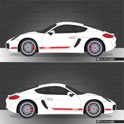Porsche 981 Cayman Stripe Kit 002