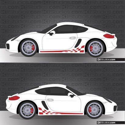 Porsche 981 Cayman Stripe Kit 003