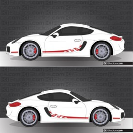 Porsche 981 Cayman Stripe Kit 004
