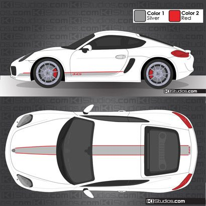 Porsche 981 Cayman Stripe Kit 005