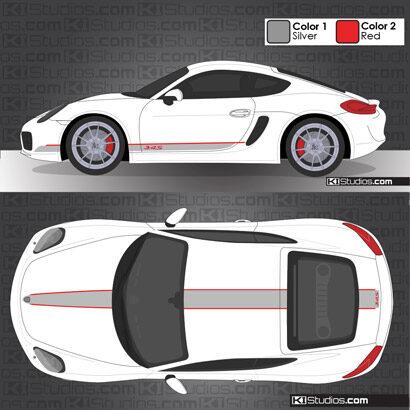 Porsche 981 Cayman Stripe Kit 005