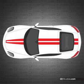 Porsche 981 Cayman Stripe Kit 006