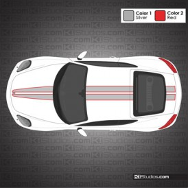 Porsche 981 Cayman Stripe Kit 007