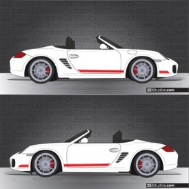 Porsche 987 Boxster Stripe Kit 001
