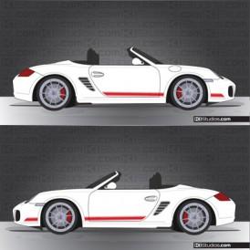 Porsche 987 Boxster Stripe Kit 001