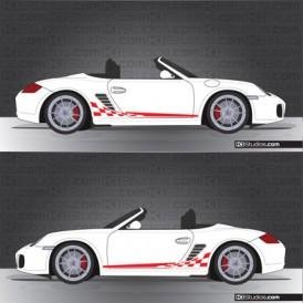 Porsche 987 Boxster Stripe Kit 003