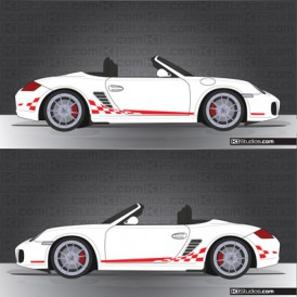 Porsche 987 Boxster Stripe Kit 004