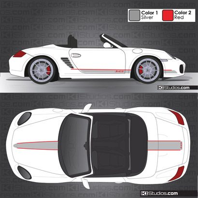 Porsche 987 Boxster Stripe Kit 005