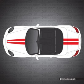 Porsche 987 Boxster Stripe Kit 007