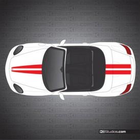 Porsche 987 Boxster Stripe Kit 007
