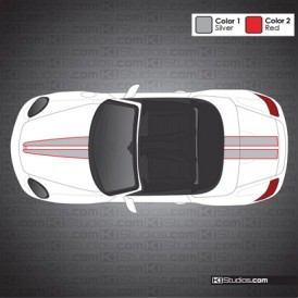 Porsche 987 Boxster Stripe Kit 008