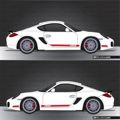 Porsche 987 Cayman Side Stripe Decal