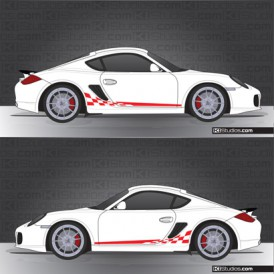 Porsche 987 Cayman Stripe Kit 003