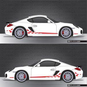 Porsche 987 Cayman Stripe Kit 004