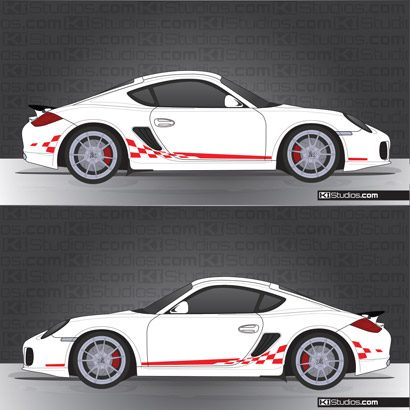 Porsche 987 Cayman Stripe Kit 004