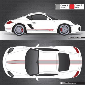 Porsche 987 Cayman Stripe Kit 005