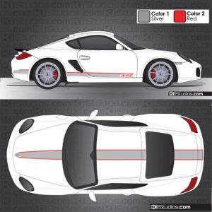 Porsche 987 Cayman Stripe Kit 005