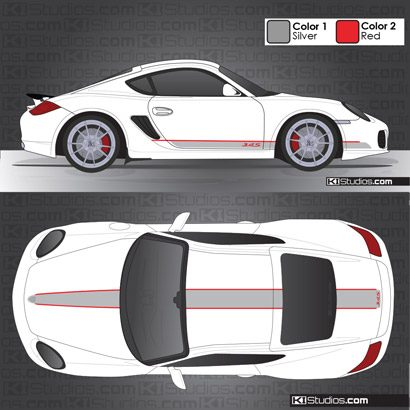 Porsche 987 Cayman Stripe Kit 006