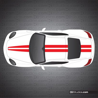 Porsche 987 Cayman Stripe Kit 007