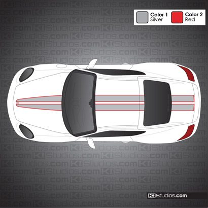 Porsche 987 Cayman Stripe Kit 008