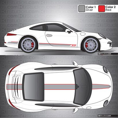 Porsche 991 Carrera Stripe Kit 001