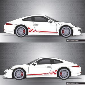 Porsche 991 Carrera Stripe Kit 002