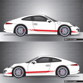 Porsche 991 Carrera Stripe Kit 004 - One Color
