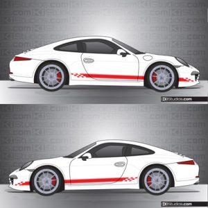 Porsche 991 Carrera Stripe Kit 004 - One Color