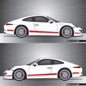 Porsche 991 Carrera Stripe Kit 006
