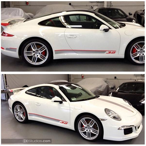 KI Studios Top And Side Stripes For Porsche 991 Carrera
