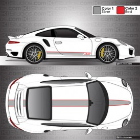 Porsche 991 Turbo Stripe Kit 001