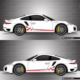 Porsche 991 Turbo Stripe Kit 002