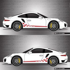 Porsche 991 Turbo Stripe Kit 002