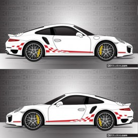 Porsche 991 Turbo Stripe Kit 003