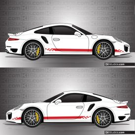 Porsche 991 Turbo Stripe Kit 004