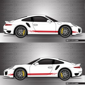 Porsche 991 Turbo Stripe Kit 004