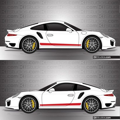 Porsche 991 Turbo Stripe Kit 006