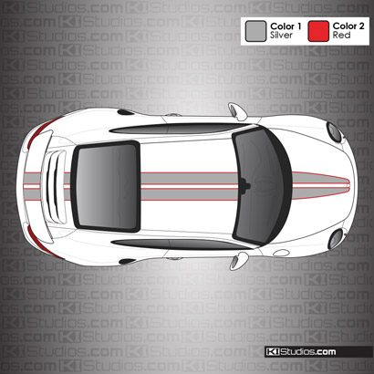 Porsche 991 Turbo Stripe Kit 008