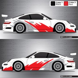 Porsche 911 Cup Car Graphic 004