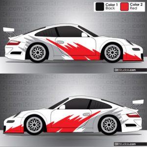 Porsche 911 Cup Car Graphic 004