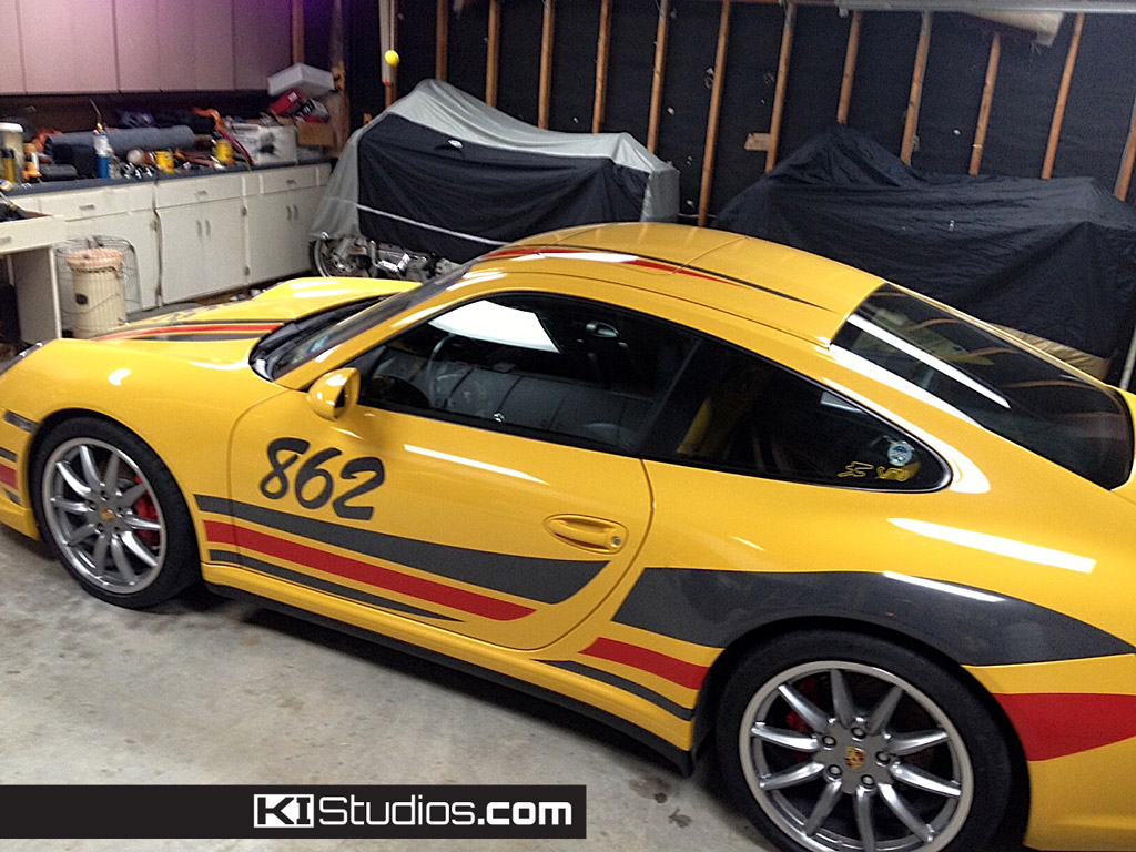 Porsche 911 Cup Race Car Racing Graphics 001 - KI Studios ...