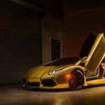 Gold Chrome Aventador