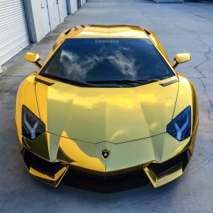 Gold Chrome Aventador
