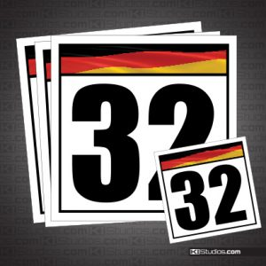 German Flag Reusable Racing Numbers